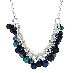 The Collection - Blue and teal pearl shaker necklace