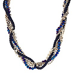 The Collection - Cord and crystal beaded plait necklace