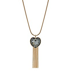 The Collection - Rose gold heart tassel necklace