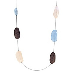 The Collection - Multi colour bead long necklace