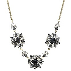 The Collection - Grey tonal crystal statement necklace