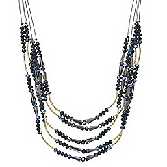 The Collection - Jet beaded multi row necklace