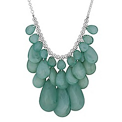 The Collection - Green teardrop cluster necklace