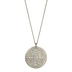 The Collection - Gold filigree disc pendant necklace