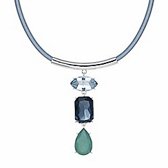 The Collection - Blue crystal multi shape necklace
