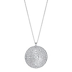 The Collection - Silver filigree disc pendant necklace
