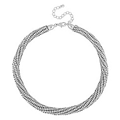 The Collection - Silver crystal collar necklace