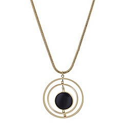 The Collection - Black disc multi circle pendant necklace