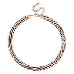 The Collection - Rose gold crystal collar necklace