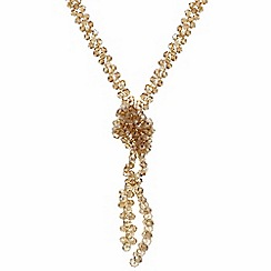 The Collection - Pink multi beaded knot long necklace