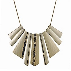 The Collection - Gold textured graduated stick necklace