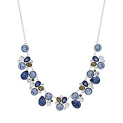 The Collection - Blue crystal cluster necklace
