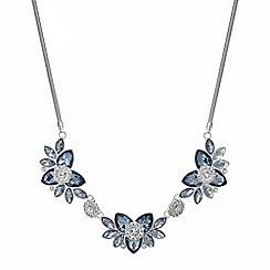 The Collection - Blue crystal flower necklace