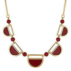 The Collection - Red multi shape necklace