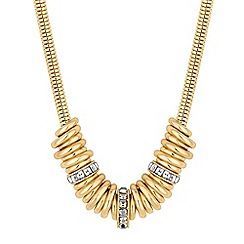 The Collection - Gold crystal ring necklace