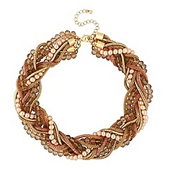 The Collection - Twisted bead and chain necklace