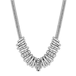 The Collection - Silver crystal ring necklace