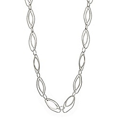 The Collection - Silver oval link long necklace