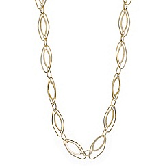 The Collection - Gold oval link long necklace
