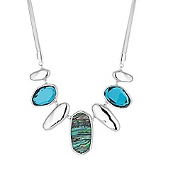 The Collection - Abalone pebble drop necklace
