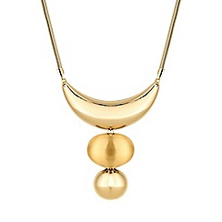 The Collection - Gold pebble necklace