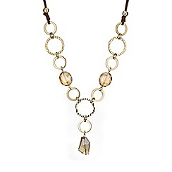 The Collection - Gold  hoop long necklace