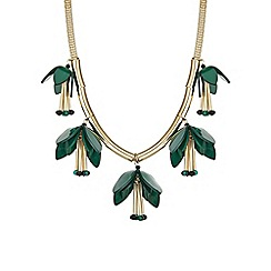 The Collection - Green flower statement necklace
