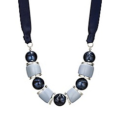 The Collection - Chunky blue bead necklace