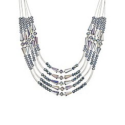 The Collection - Blue bead multi row necklace