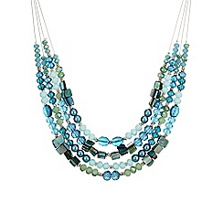 The Collection - Bead and shell multi row necklace