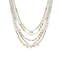 The Collection - Bead and pearl multi row necklace