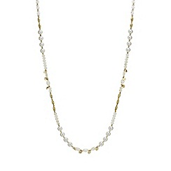 The Collection - Bead and pearl long necklace