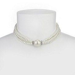The Collection - Cream pearl choker necklace