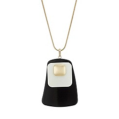 The Collection - Black cube long necklace