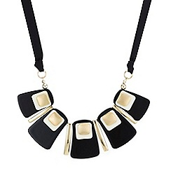 The Collection - Black cube statement necklace