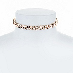 The Collection - Rose gold crystal diamante choker necklace