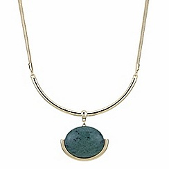The Collection - Green stone drop necklace