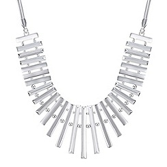 The Collection - Silver bar fan necklace