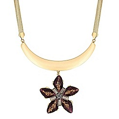 The Collection - Crystal flower drop necklace