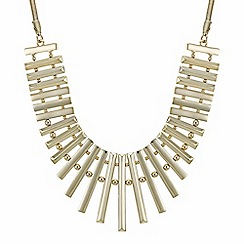 The Collection - Gold bar fan necklace