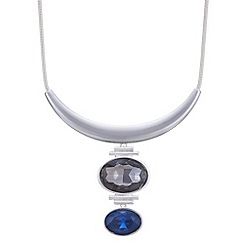 The Collection - Blue crystal drop torque necklace
