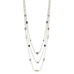 The Collection - Beaded cube multi row necklace