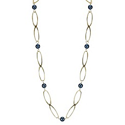 The Collection - Teal ball link rope necklace