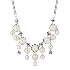 The Collection - Pearl droplet statement necklace