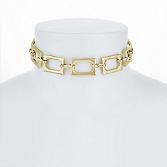 The Collection - Gold chain link choker necklace