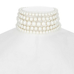 The Collection - Multi row pearl choker necklace