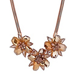 The Collection - Rose gold flower statement necklace