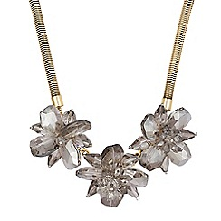 The Collection - Gold flower statement necklace