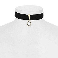 The Collection - Crystal peardrop choker necklace