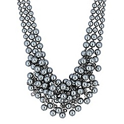 The Collection - Grey pearl cluster necklace